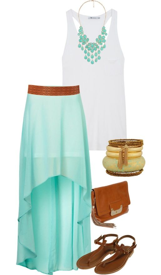 summer dress outfits | ... with high low skirt maxi skirt outfits .
