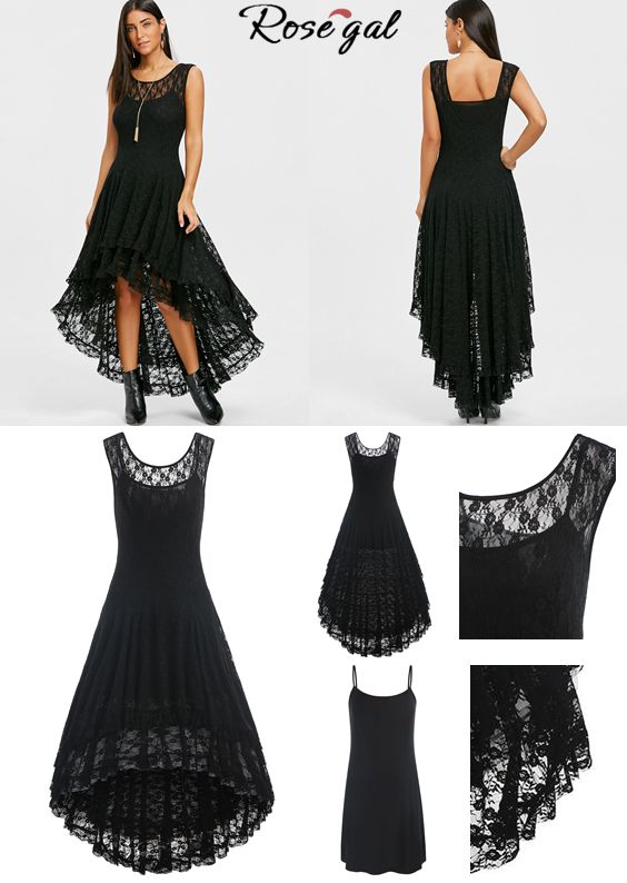 Tiered Lace High Low Dress | Dresses for teens, Fashion, Dress
