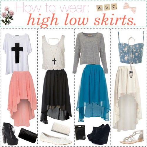 High-low skirt outfit ideas | High low skirt outfit, High low .