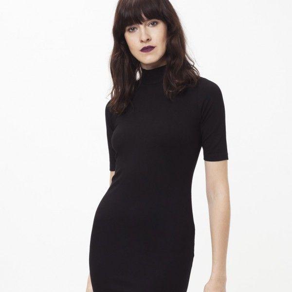 Turtleneck dress in 2020 | Dresses, Black turtleneck dress, Turtle .
