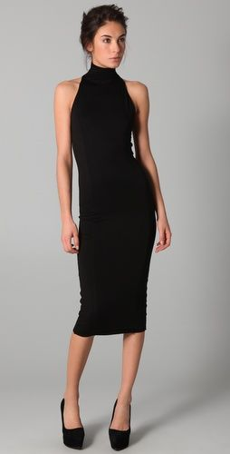 Love the below the knee black turtle neck dress | Turtle neck .