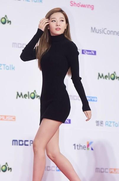 dress, mini dress, bodycon dress, long sleeve dress, black dress .