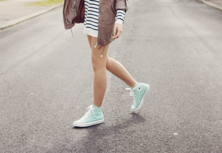 How to Wear High Top Converse for Women: Outfit Ideas - FMag.c