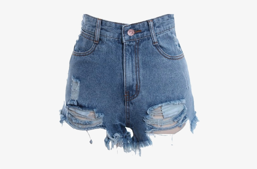 High Waisted Distressed Denim Shorts - Swag Outfit Ideas For .