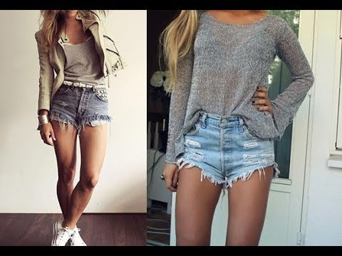 Best High waisted shorts outfit ideas - YouTu