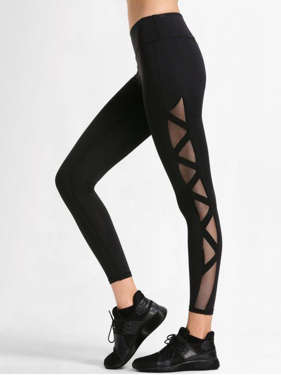 Up to 51% OFF! Bandage Mesh Workout Leggings. zaful,zaful.com .