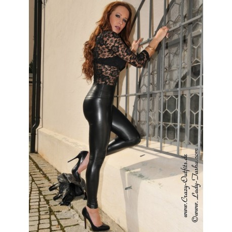 Faux leather leggings Razer : Crazy-Outfits - webshop for leather .