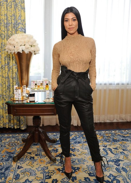 15 Amazing Outfits With High-Waisted Leather Pants - Styleohol