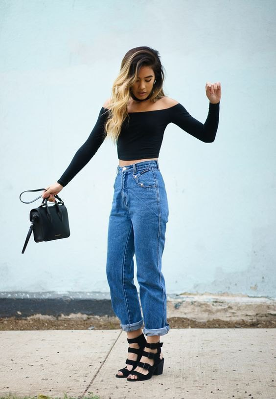 How to Style High Waisted Mom Jeans: Best 13 Casual Outfits for .