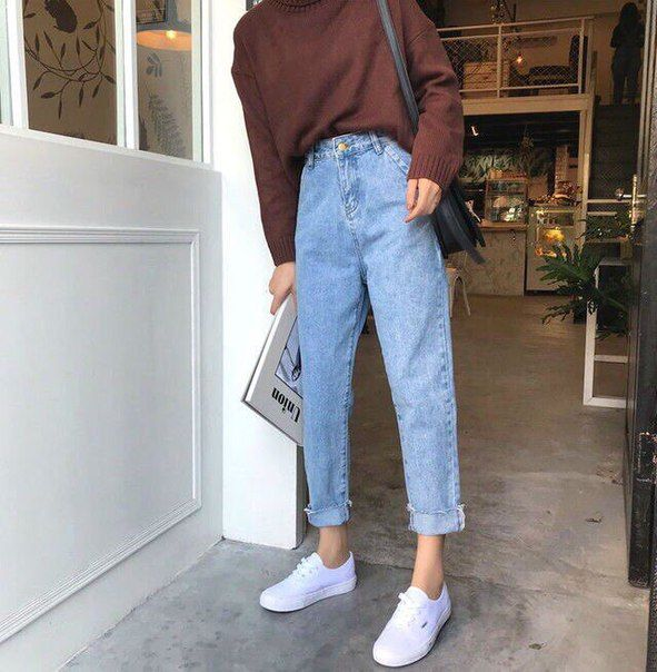 High Rise Mom Fit Jeans   Aesthetic clothes, Fashion, Retro outfi