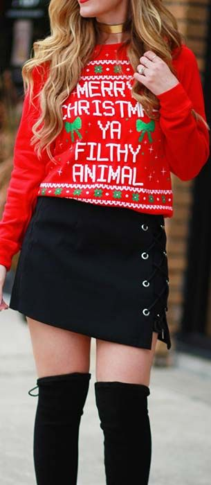 59 Cute Christmas Outfit Ideas | Cute christmas outfits, Cute .