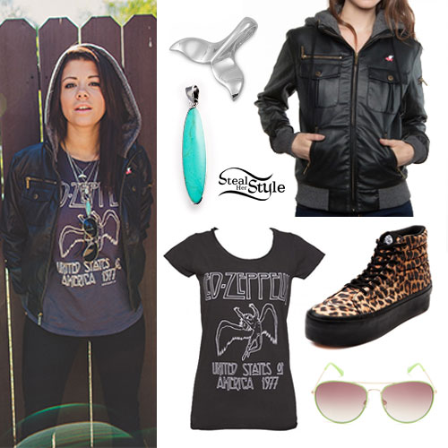 Tay Jardine: Hooded Bomber Jacket Outfit | Steal Her Sty