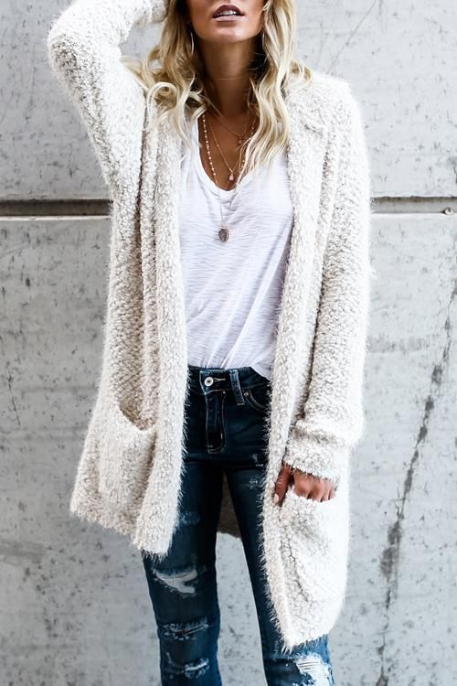 Little Lamb Hooded Cardigan | Fashion, Clothes, Autumn fashi