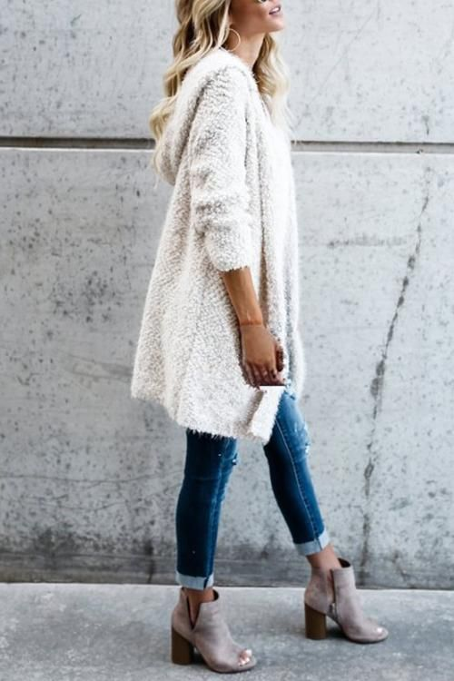 Women's Plush Cardigan Coat | Perfect fall outfit, Types of .