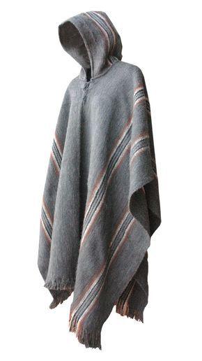 "XXR27 - Poncho ""Illimani"" with Hood - Large size | Mens poncho ."