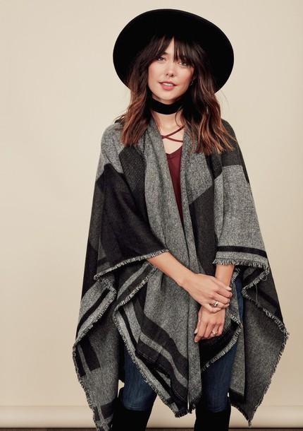 scarf, poncho, scarf poncho, hood, hooded, hooded poncho .
