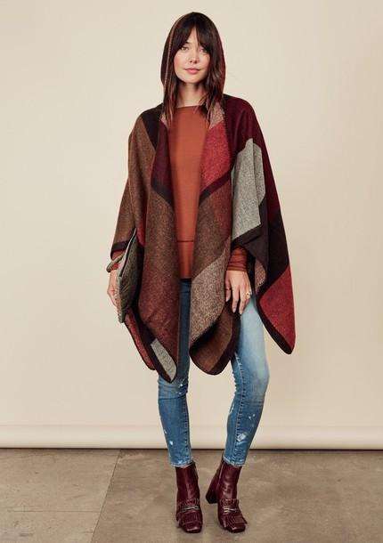 jacket, poncho, fall outfits, fall poncho, boho, boho chic, one .