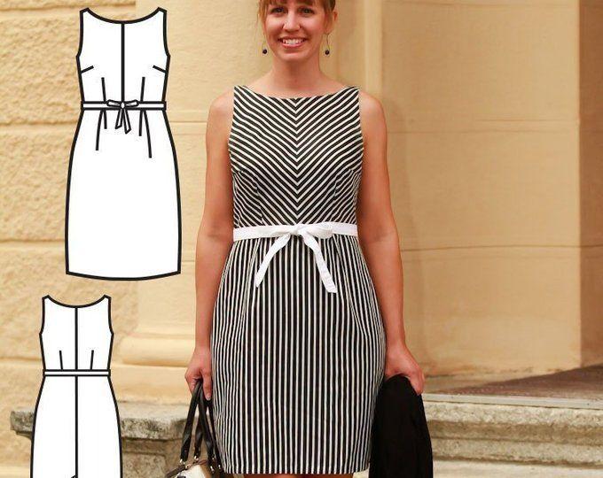 Maxi Dress Sewing PDF Pattern - Womens Maxi Dress Pattern - Maxi .
