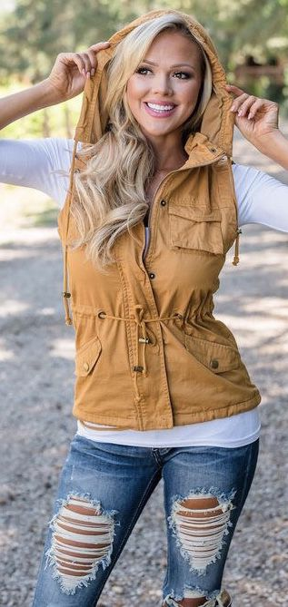 Cute little jacket vest outfit | Women's Outfit Ideas (With images .
