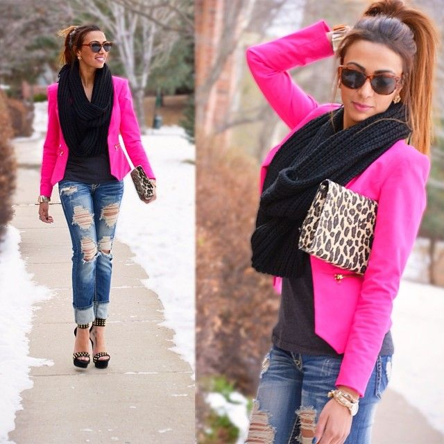 need a hot pinker blazer. | Fashion, Pink blazer outfits, Hot pink .