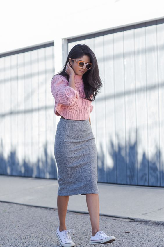 How to wear midi dresses and skirts if you are petite -Bomb Peti