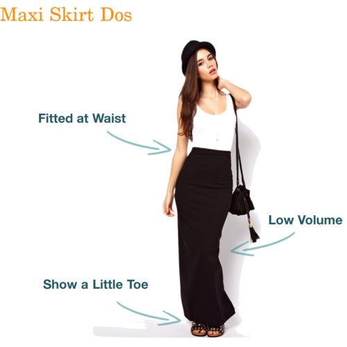 "How To Wear a Maxi Skirt for Petite Women 5'4"" and under ."