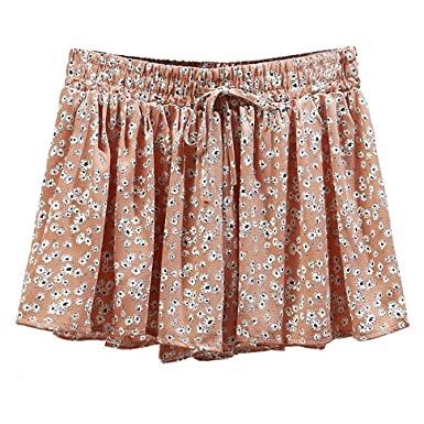 Shorts Women Summer Style Feminina Floral Cute Sweet High Waist .