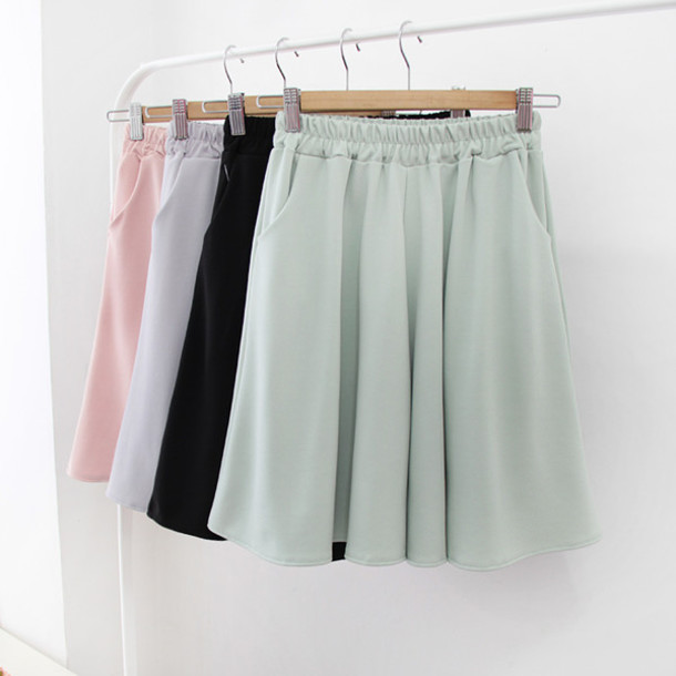 shorts, chiffon, chiffon skirt, chiffon shorts, pastel, korean .