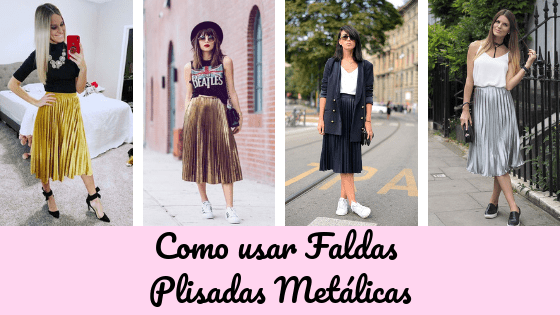 How to style Metallic Pleated Midi Skirts - Never Stop Shinni