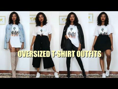 20 Ways To Style Your Oversized T-Shirt | Oversized T-Shirt .