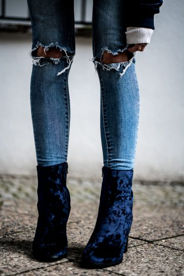 Blue Velvet Boots || What to wear in spring || Fashionblog Berl