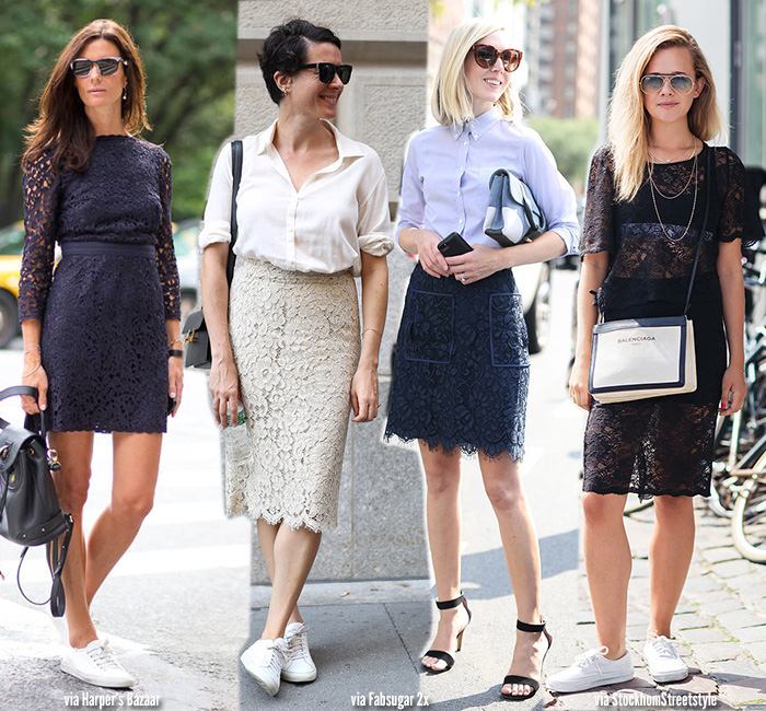 How to Wear   Lace Skirts & Dresses - Blue is in Fashion this Ye