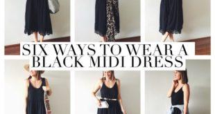 How To Wear A Black Midi Dress (Six Ways!) | What I'm Wearing .