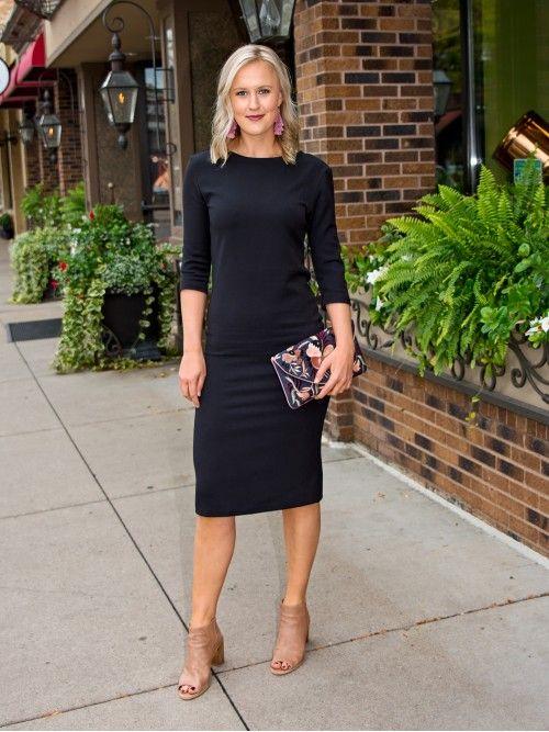 The classic, black midi dress that every tall girl needs! The .