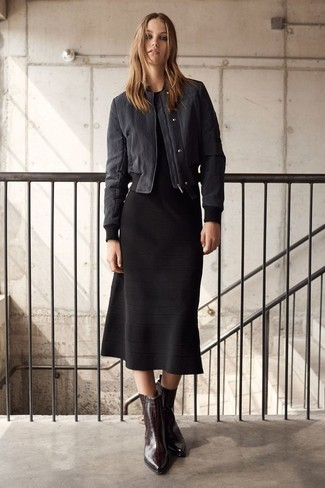 How to Wear a Black Midi Dress (96 looks & outfits) | Women's .