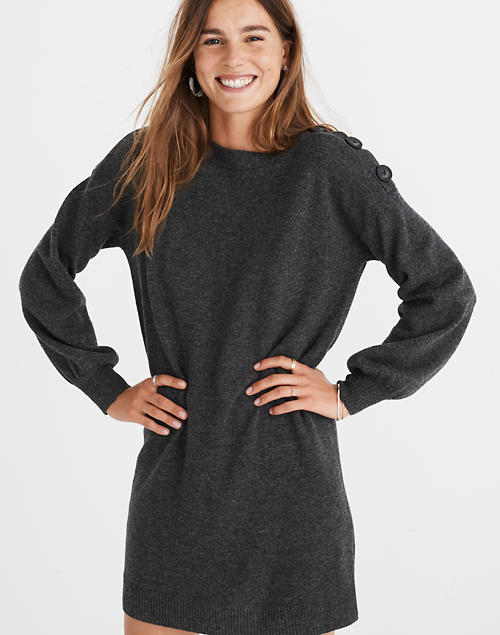 Boatneck Button-Shoulder Sweater-Dre