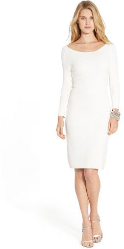 Ralph Lauren Damask Boatneck Sweater Dress, $179 | Ralph Lauren .