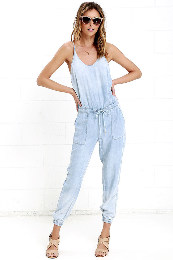 Blank NYC Jumpsuit - Chambray Jumpsuit - Bleached Jumpsuit - $91.