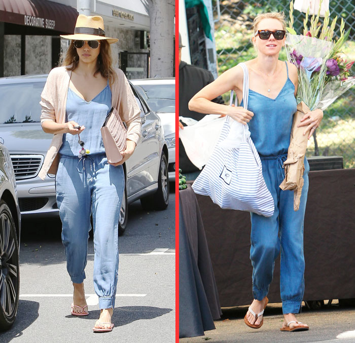 Celebrity Street Style - Jessica Alba And Naomi Watts Both Jump .
