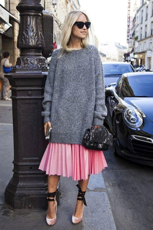 15 Stylish Ways To Wear A Chunky Knit Sweater - Styleohol