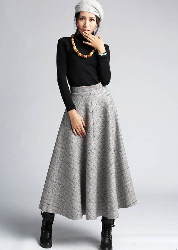 Style Files: Winter Skirts | Long skirt outfits, Maxi skirt winter .