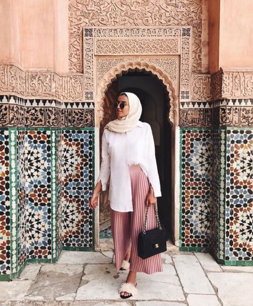 pleated palazzo pants with hijab – Just Trendy Gir