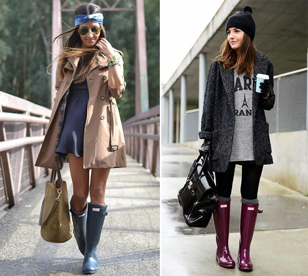 How to Wear Rubber/ Rain Boots | Rain boots fashion, Fashion .