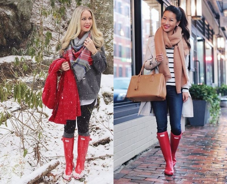 Ways To Wear Rain Boots for winter 2016 | bemvestir