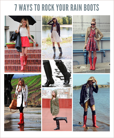 How to Wear Rain Boots - Styling Ti