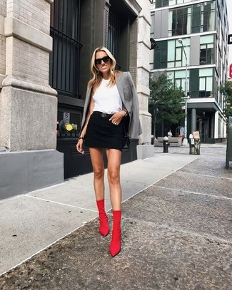 How to Wear Red Ankle Boots (149 looks & outfits) | Women's .