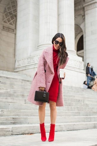 How to Wear Red Suede Ankle Boots (43 looks & outfits) | Women's .