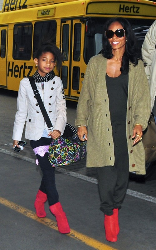 MOMMY&ME FASHION: WILLOW AND JADA WEAR RED ANKLE BOO