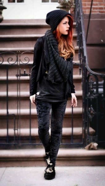 16 Amazing Tips on How to Wear Velvet Leggings - FMag.c
