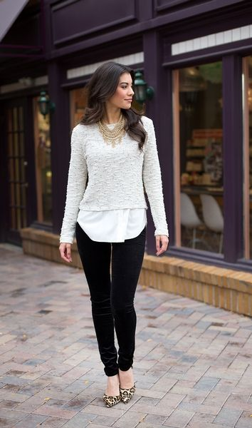 How to Wear Velvet Leggings-18 Cute Outfits with Velvet Leggings .